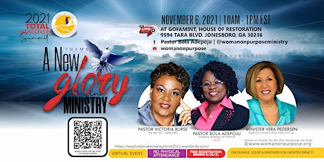 2021 Total MakeOver Summit: A New Glory in Ministry tickets