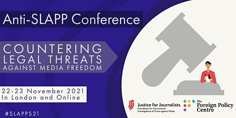 Anti-SLAPP Conference: Countering Legal Threats to Media Freedom tickets