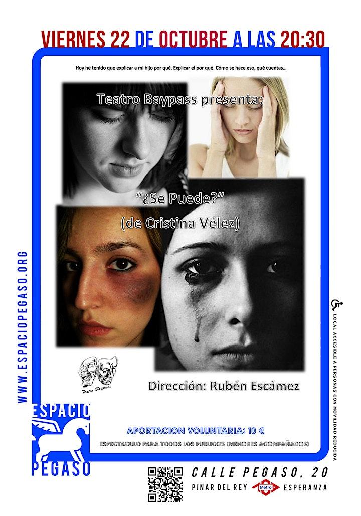 """Imagen de TEATRO EN ESPACIO PEGASO """"SE PUEDE"""" VIERNES 22 OCTUBRE.20.30H"""