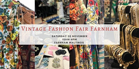 Vintage Fashion Fair Farnham November 2021 tickets
