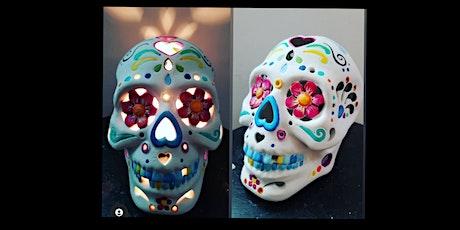 Light Up Sugar Skull Ceramic Paint Night tickets