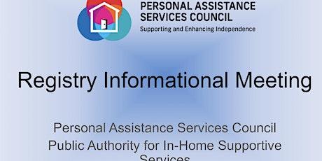Registry Informational Meeting - October  2021 tickets