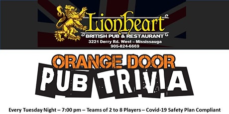 Lionheart's Weekly Trivia Night - Every Tuesday Night tickets