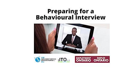 Preparing for a Behavioural Interview tickets