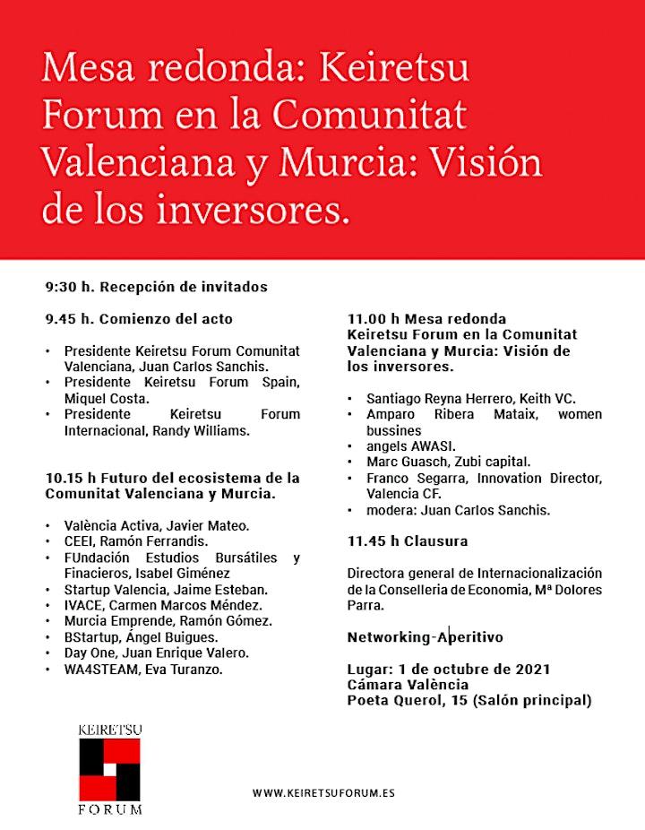 Imagen de Mesa redonda Keiretsu Forum en la Comunitat Valenciana y Murcia