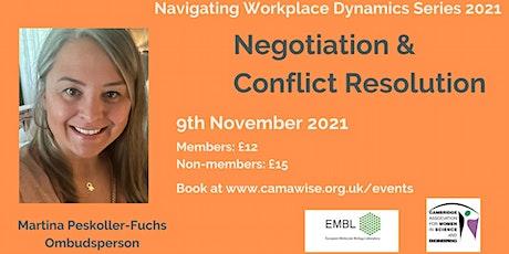 Negotiation & Conflict Resolution tickets