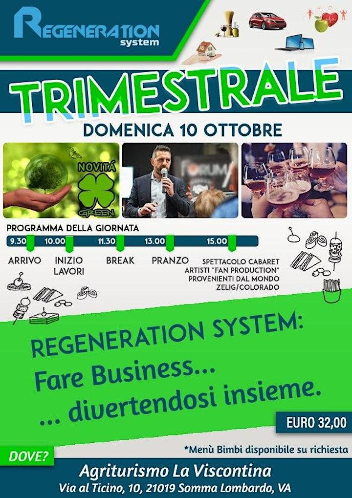 """Immagine REGENERATION SYSTEM: """"EVENTO TRIMESTRALE""""  OTTOBRE 2021"""