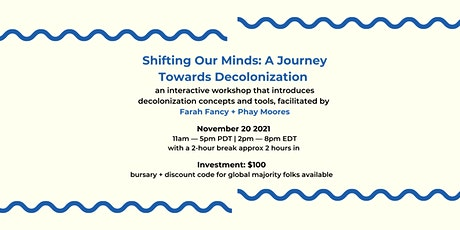 Shifting Our Minds:  A Journey Towards Decolonization  Session 3 tickets