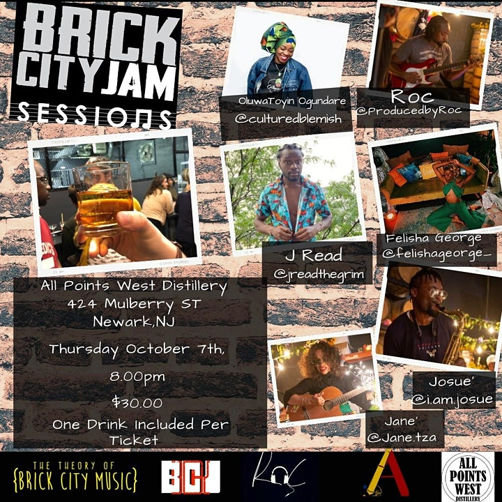 Brick City Jam Sessions at All Points West Distillery image