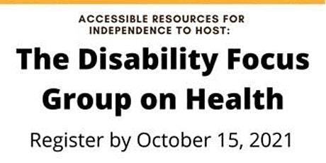 Disability Focus Group on Health tickets