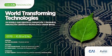 #CiclosCAI INNOVACIÓN - World Transforming Technologies entradas