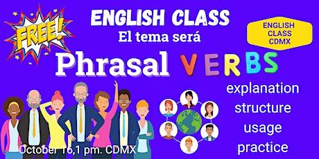 Phrasal Verbs English Class Gratis tickets