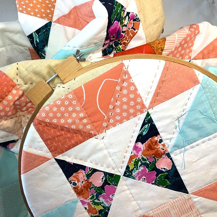 Big Stitch Hand Quilting Making Your Quilts Modern image