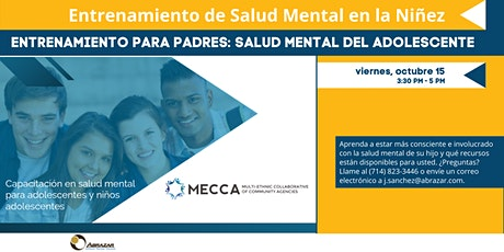 Capacitación en salud mental para adolescentes y niños adolescentes boletos