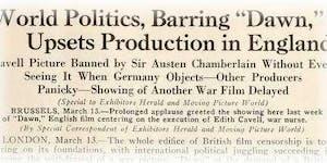 Dawn (UK 1928): Edith Cavell Centenary Screening with...