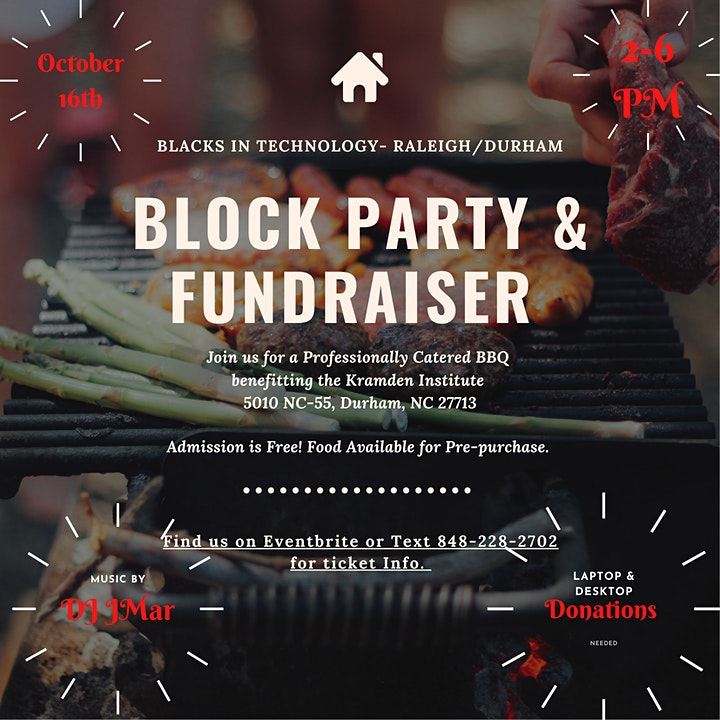 BIT-RDU 1st  Annual Block Party Fundraiser for Kramden Institute image