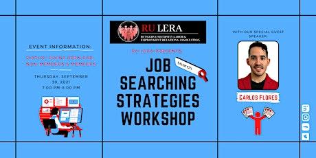 Job Searching Strategies Workshop Tickets