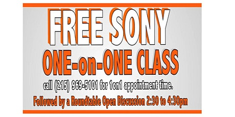 Free Sony One on One Class & Roundtable Discussion tickets