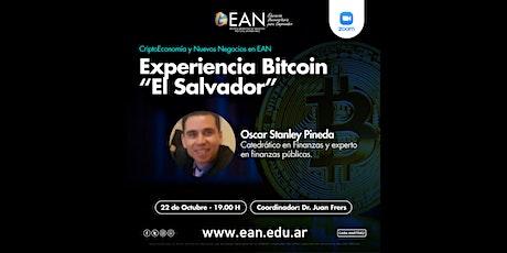 """Experiencia Bitcoin """"El Salvador"""" boletos"""