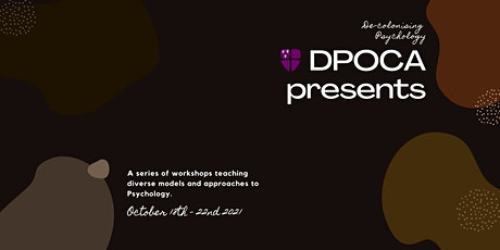 De-colonising Psychology: Black Identity Development tickets