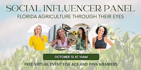 Social Influencer Panel: Florida Agriculture Through Their Eyes Tickets