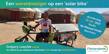 Een wereldreiziger op een 'solar bike' vertelt tickets