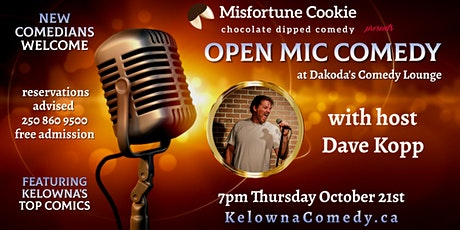 Misfortune Cookie presents Open Mic Comedy at Dakoda's Comedy Lounge tickets