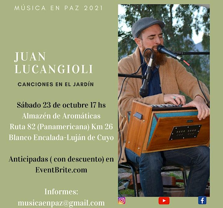 Imagen de Canciones en el Jardín~Juan Lucangioli