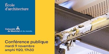 Conférence publique de l'architecte et ingénieur, Jean-Marc Weill billets