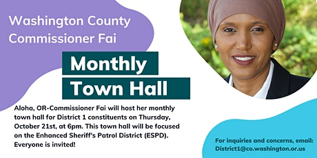 October Town Hall with Commissioner Fai billets