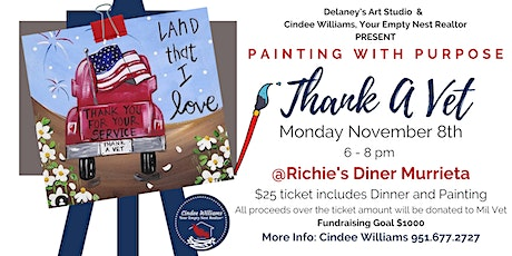 Painting with Purpose - Thank A Vet Fundraising Event tickets