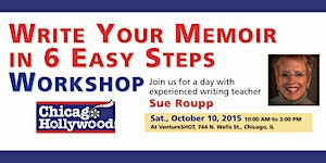 Write Your Memoir in  6 Easy Steps Workshop