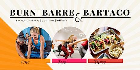 Burn, Barre, & bartaco tickets