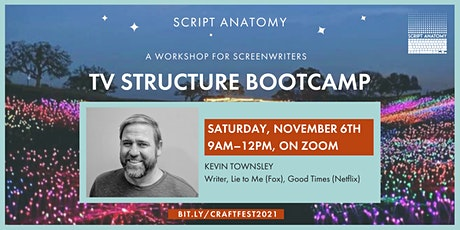 SCREENWRITING CRAFT FESTIVAL – TV STRUCTURE BOOTCAMP tickets