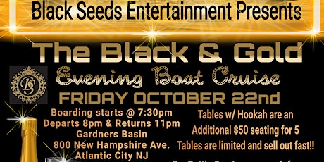 Black & Gold Evening Boat Cruise tickets