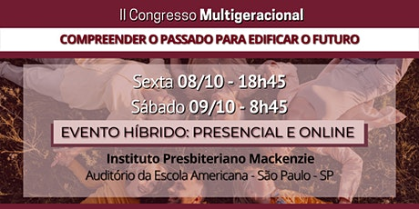 II Congresso Multigeracional ingressos