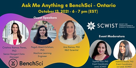 Ask Me Anything  @ BenchSci (Ontario) tickets