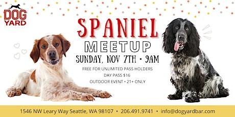 Spaniel Meetup at the Dog Yard - Sunday Nov 7 tickets
