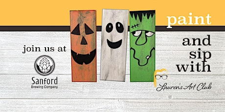 DIY Paint & Sip - Sanford Brewing Company - 3 Halloween Character Planks tickets