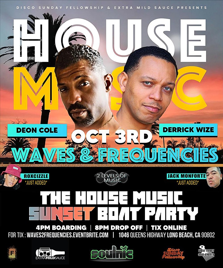WAVES & FREQUENCIES:  The House Music Boat Party image