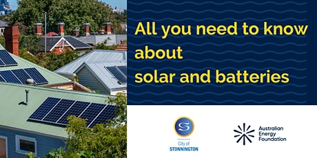 All you need to know about solar and batteries  - City of Stonnington tickets