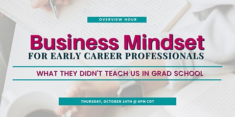 Business Mindset Overview Hour tickets
