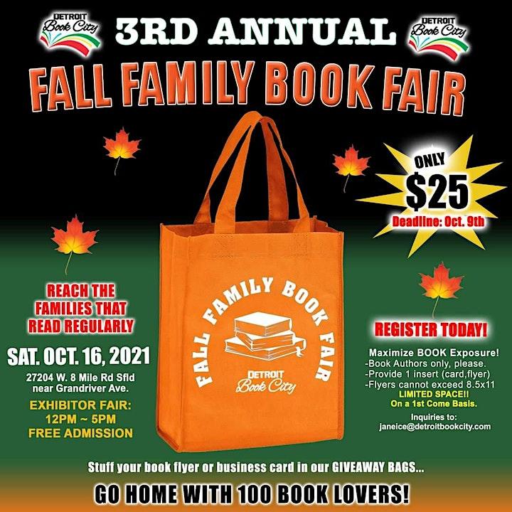 Detroit Book City's 3rd Annual Fall Family Book Fair 2021 image