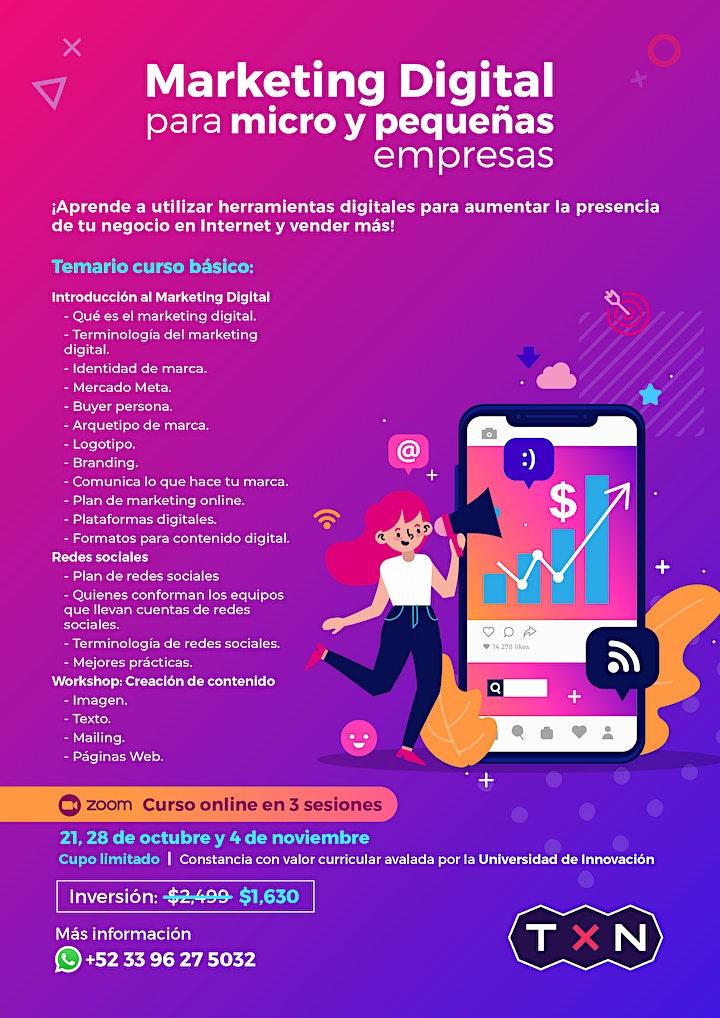 Imagen de Curso Básico de Marketing Digital para Micro y Pequeñas Empresas