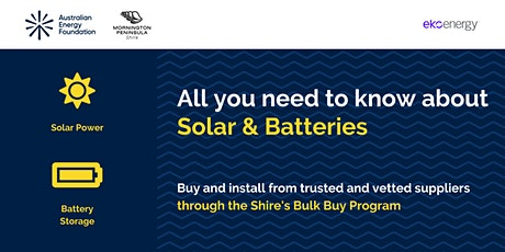 All you need to know about Solar & Batteries - Mornington Peninsula Shire tickets