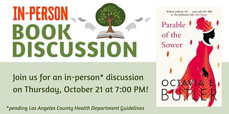 In-Person Book Discussion tickets
