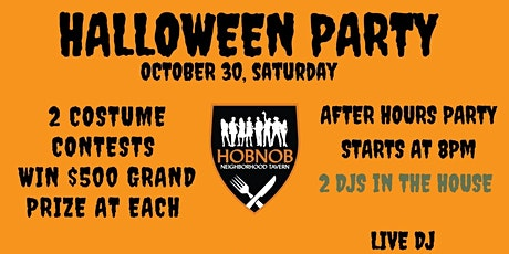 HALLOWEEN PARTY AT ATLANTIC STATION HOBNOB - FREE ENYRY tickets