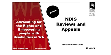 PWdWA's NDIS Reviews and Appeals Online Information Session tickets