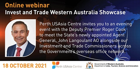 Livestream Invest and Trade Western Australia Showcase tickets