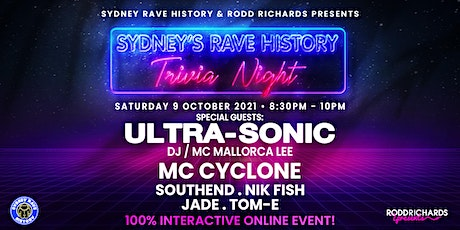 Sydney's Rave History Trivia + Special Guest ULTRA-SONIC tickets